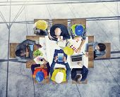 picture of workstation  - Brainstorming Planning Partnership Strategy Workstation Business Adminstration Concept - JPG