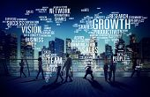 stock photo of commutator  - Global Business People Commuter Walking Success Growth Concept - JPG