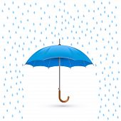 stock photo of rain  - Vector illustration of cool single weather icon  - JPG