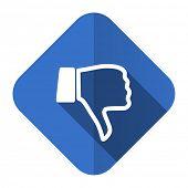 picture of dislike  - dislike flat icon thumb down sign  - JPG