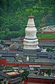 picture of shan  - The gigantic white stupa of Tayuan temple in Taihuai  - JPG