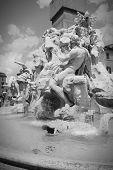 foto of obelisk  - Piazza Navona in Rome Italy - JPG