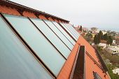 foto of red roof  - Solar water heating system  - JPG