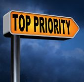 picture of priorities  - top priority important road sign arrow very high urgency info lost importance crucial information highest importance  - JPG