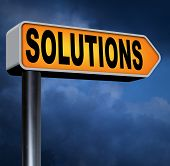 foto of solution problem  - solutions solve problems and search and find a solution to pop quiz questions road sign arrow  - JPG