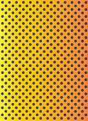 stock photo of metal grate  - Concept conceptual orange abstract metal stainless steel aluminum perforated pattern texture mesh background as metaphor to industrial - JPG