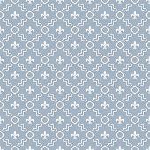 picture of fleur de lis  - White and Blue Fleur - JPG