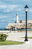 picture of el morro castle  - The castle of El Morro in Havana pictured from across the bay - JPG