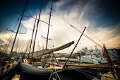 stock photo of marina  - Beautiful marina view - JPG