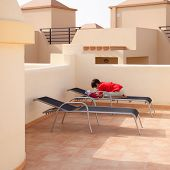 foto of ten years old  - bored with holidays  - JPG
