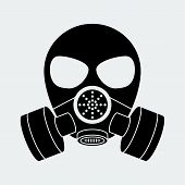 pic of bio-hazard  - Vector biohazard mask white - JPG