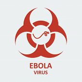 picture of hemorrhage  - Vector ebola virus and biohazard sign - JPG