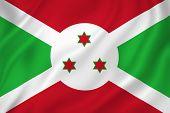 image of burundi  - Burundi national flag background texture full frame - JPG