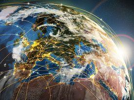 stock photo of communication  - Globalization or communication concept - JPG
