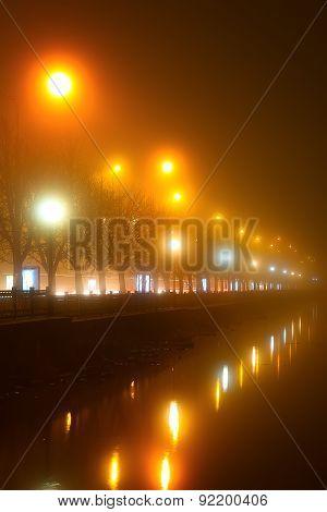 Promenade Lights In The Fog