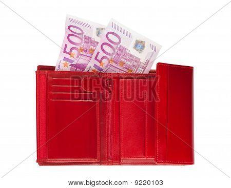 Brieftasche mit tausend Euro
