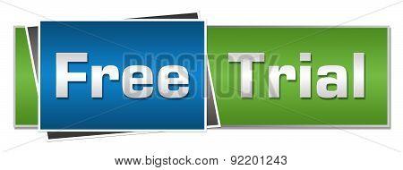 Free Trial Blue Green Horizontal