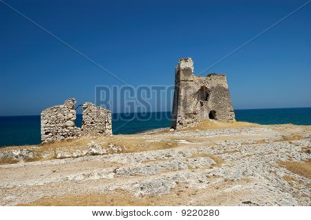Tower Ruins By The Sea