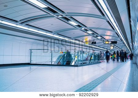 Subway Passage In Guangzhou