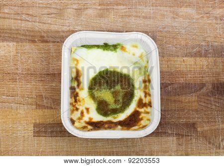 pesto lasagna with bechamel