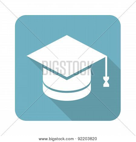 Academic hat square icon