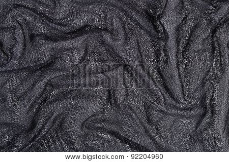 Gray Wrinkled Nonwoven Fabric Background