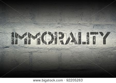 Immorality