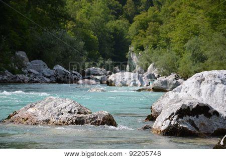 Rocks in river