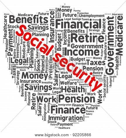 Social security word cloud