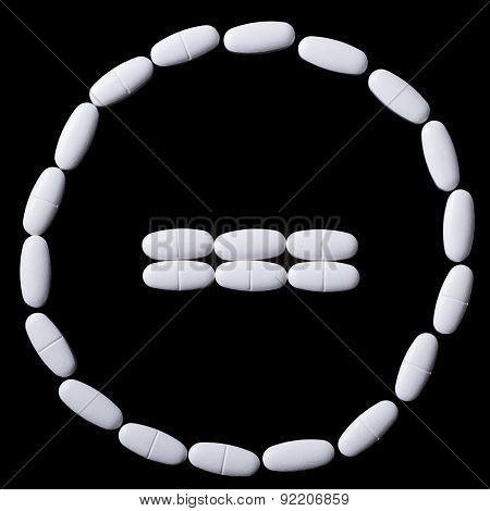 stop sign of white oblong tablets