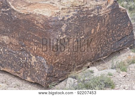 Native American Indian Rock Petroglyphs