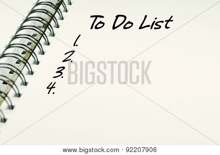 To Do List Text - Business Concept