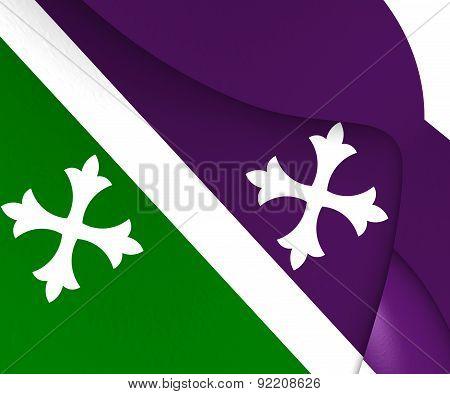 Flag Of Adjuntas, Puerto Rico.