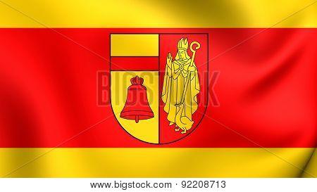 Flag Of Coesfeld, Germany.
