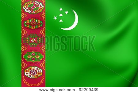 Flag Of The Turkmenistan