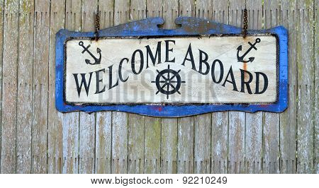 Welcome Aboard Sign