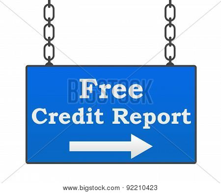 Free Credit Report Signboard