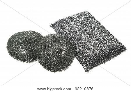 Different Metal Kitchen Sponges