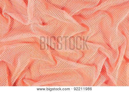 Orange Crumpled Nonwoven Fabric Background