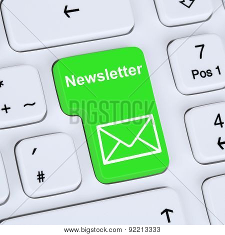 Internet Concept Sending Newsletter For Business Marketing Campaign