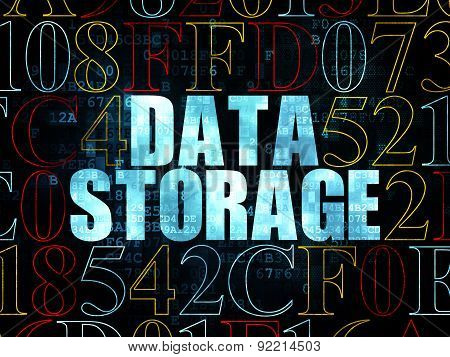 Information concept: Data Storage on Digital background