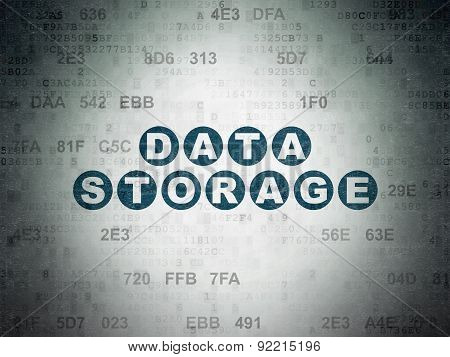 Data concept: Data Storage on Digital Paper background