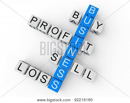 Business keywords 3d cubes