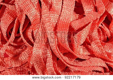 Orange Stockinet Ribbons Background