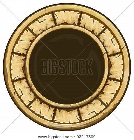Round stone frame