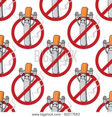 No smoking sign seamless pattern