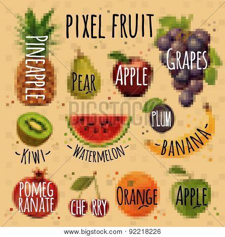 Pixel fruit kraft