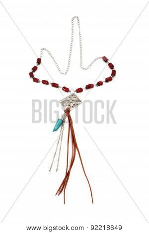 Beautiful Necklace Handmade On Chain With Pendant