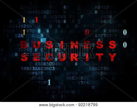Protection concept: Business Security on Digital background