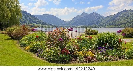 Pictorial Seafront Schliersee, Bavarian Alps